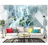 3D Fototapete 3D Stereo abstrakte Geometrie Wasserfall Wandbild Schlafzimmer Wohnzimmer Sofa TV Hintergrund Wandtapete