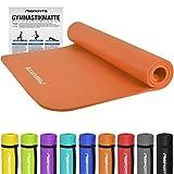 MSPORTS Gymnastikmatte Premium | inkl. Übungsposter | Hautfreundliche - Phthalatfreie Fitnessmatte - Orange - 190 x 100 x 1,5 cm - sehr weich - extra dick | Yogamatte
