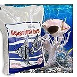 Kieskönig Aquariensand Aquariumsand Bodengrund 0,1-0,9 mm Aquarienkies hochrein Naturweiss 20 kg (4 x 5 kg Beutel)