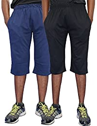ELK Mens's Cotton Three Fourth Capri Shorts Trouser Clothing 2 Color Set Combo