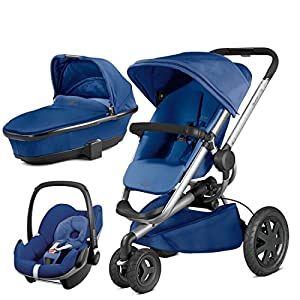 Quinny Buzz Xtra Blue Base with Carrycot and Pebble Car Seat   11