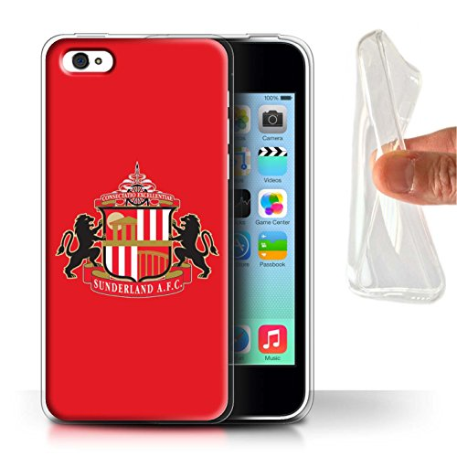 Offiziell Sunderland AFC Hülle / Gel TPU Case für Apple iPhone 5C / Pack 6pcs Muster / SAFC Fußball Crest Kollektion Rot