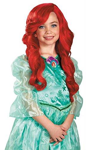 Ariel Kinder Perücke Halloween Kostüme Cosplay Wig Perücke Haar für Maskerade Make-up Party (Ariel Kostüm Make Up)