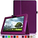 Finte Asus MeMo Pad Full HD 10 Folio Hülle Case - Slim Fit Folio Kunstleder Schutzhülle Cover Tasche mit Auto Schlaf / Weck Funktion für Asus MeMo Pad Full HD10 ME302 / ME302C 25,7 cm (10,1 Zoll) Tablet-PC, Lila