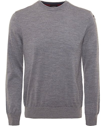 Paul and Shark Herren Schurwolle-Rundhals-Pullover LIGHT GREY XXXL