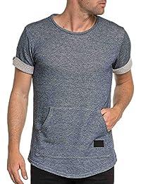 Celebry tees - Tee-shirt street bleu denim avec poche