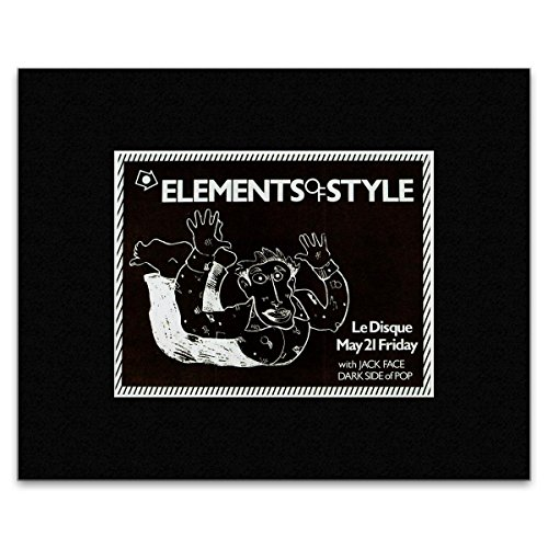 Stick It On Your Wall Elements of Style Mini-Poster Jack Face - Le Disque San Francisco 1982, 20,3 x 25,4 cm