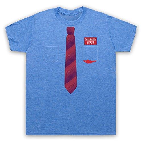 Inspiriert durch Shaun Of The Dead Shirt And Tie Unofficial Herren T-Shirt Jahrgang Blau