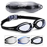 AdePoy Schwimmbrillen mit UV-Schutz und Antibeschlag-Schutz Bequem...