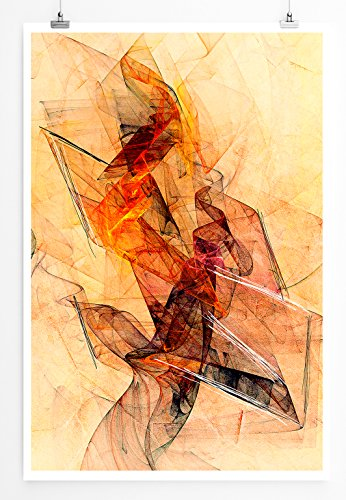 Balltongue - Modernes Abstraktes Bild Sinus Art - Bilder, Poster und Kunstdrucke