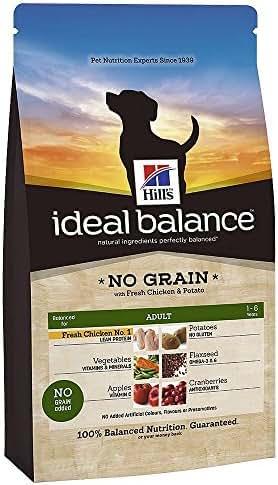 Ideal Balance : Croquettes Chien Adulte Ideal Balance Sans Céréales :12 Kg Poulet