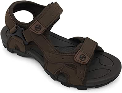 HEVA Mens Sandals Trekking Walking Athletic Outdoor Hiking Leather Shoes
