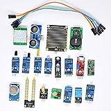 FOKOM Arduino 16PCS Kit Module Capteur Arduino Capteur Module Kit Electronique Sensors pour Arduino