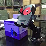 """CONNECTWIDE®Car Mount One Touch- Windshield Mount Holder New Qty.(1pcs) Color: Black Size: 2""""*3"""" inch"""