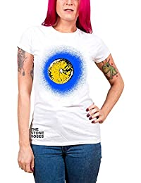 The Stone Roses T Shirt Blau Lemon logo Nue offiziell damen Skinny Fit