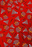 Journal: Red fire flaming badminton notebook