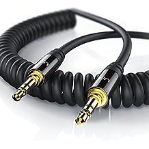 Uplink - 1,5m Cavo audio spirale con jack / cavo