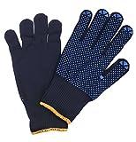 Connex COX938239 Handschuhe Feinstrick blau, Gr. 9