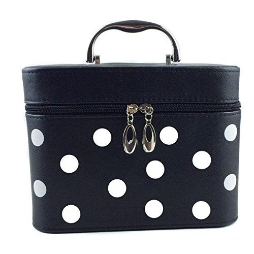 Jiaqing Ladies Grande Capacità Multifunzione Travel Cosmetic Bag Generale Borsa Cosmetica Impermeabile Nylon Portable Black