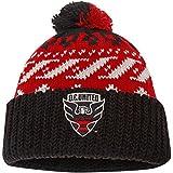 D.C. United adidas Logo Cuffed Knit Hat with Pom - Red/Black - MLS