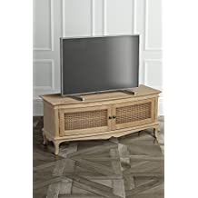 MY-Furniture - Les Milles Franc?s provence Roble s?lido resistido - Shabby chic Mueble de TV