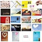 20er Postkarten Set zum Thema LIEBE mit Sprüchen und Zitaten – Jede Postkarte ein Spruch oder Zitat
