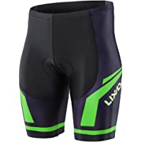 Lixada Men's Cycling Shorts 3D Padded Sport Shorts Breathable Base Layer Running Tights Shorts for Workout Fitness