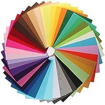 42 Hojas de Fieltro No Tejido Tela Fieltro Grueso de Acrílico para Manualidades Patchwork Costura DIY Craft Trabajo 30*30cm Espesor 1mm Colores Mixtos