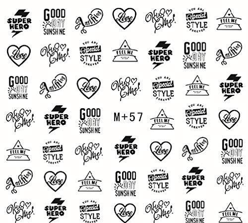 Wasserzeichen Nagel Aufkleber Japanische Und Koreanische Modelle Wörter Cartoon Nagel Aufkleber Nagel Aufkleber Nagel Schmuck 5Pc