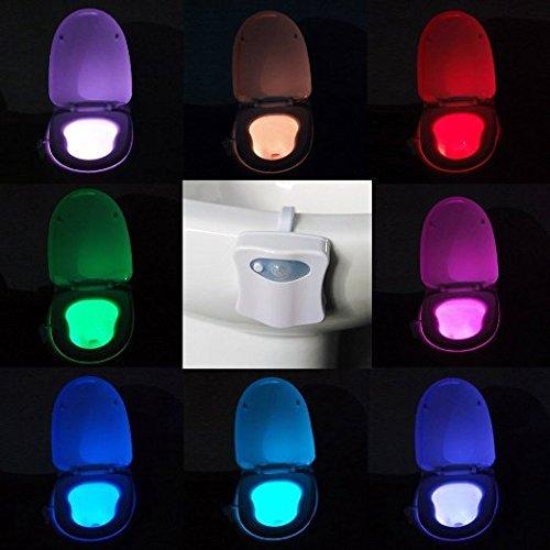 Motion aktiviert LED WC-Nachtlicht batteriebetrieben Lichtsensor WC-Lampe 4 Stück