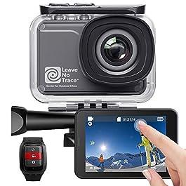 AKASO Action Cam WiFi Native 4K/60fps 20MP Touch Screen Telecomando EIS 39m Impermeabile 3 Batterie 170° Angolo Regolabile Kit di Accessori(V50 PRO SE)