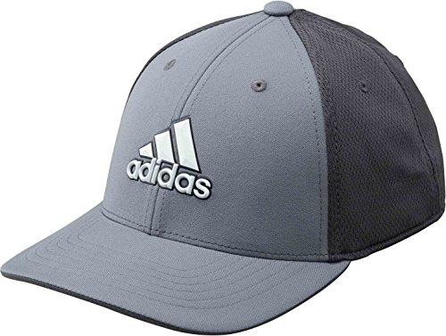 adidas Golf 2018 Mens Climacool Stretch Fit Tour Golf Cap Grey Four L/XL Tour Fit Cap