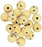 Playbox - Perline in Legno (con Il Viso) - 30mm - I 20 Pezzi - (PBX2470577)