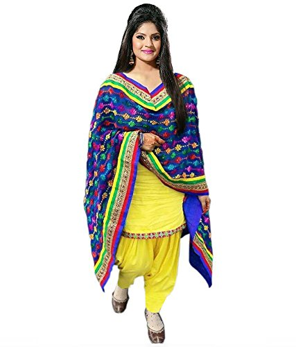 Ethnic Bazaar Women\'s Cotton Punjabi Patiala Suit Dress Material