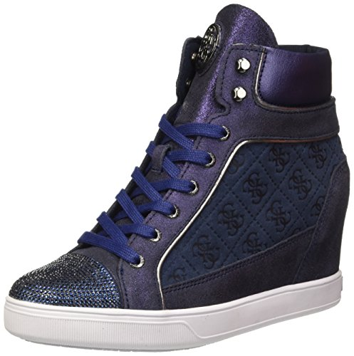 Guess Furr, Scarpe a Collo Alto Donna Blu