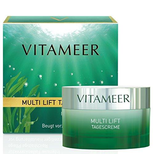 VITAMEER® Anti Falten Gesichtscreme für reifere Haut, vegan, mit Meereswirkstoffen | hilft, vorzeitiger Hautalterung vorzubeugen | straffende und glättend | ohne Pareben, PEG-Stoffe und Paraffin -