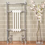 Traditional Bathroom Heated Towel Radiator 940 x 479 Chrome - 10 year guarantee