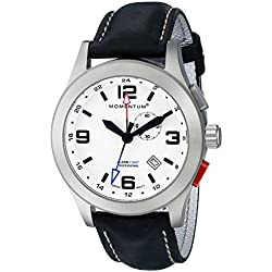 Momentum Mens Quartz Watch, Analogue Classic Display and Leather Strap 1M-SP58L2B