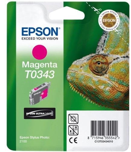 Preisvergleich Produktbild Epson T0343 Tintenpatrone Chamäleon, Singlepack magenta