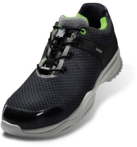 uvex Herren sportsline Arbeitssneaker, Grau Schwarz, 40 EU