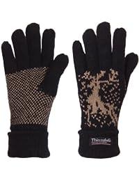 223ba53bfaddf3 Brubaker Damen oder Herren Thinsulate Rentier Fingerhandschuhe Shetland  Wolle gefüttert