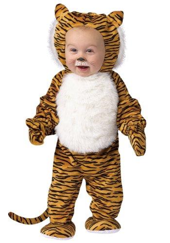 Fun World Unisex-adult Toddler Cuddly Tiger Fancy dress costume 6/12 - Tiger Kostüm Kleinkind