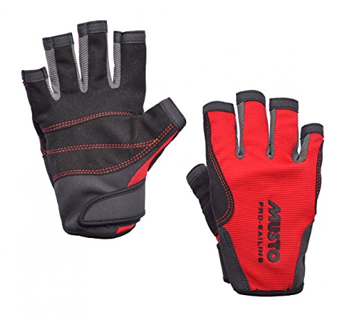 Musto Essential Sailing Short Finger Gloves RED AS0813 Sizes- - Medium