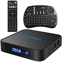 Globmall X1 Android 6.0 Smart TV Box Bluetooth 4.0 Amlogic Quad Core CPU LCD Pantalla con Teclado True 4K WiFi Smart TV
