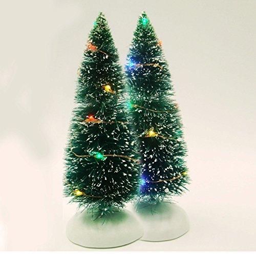 um Schnee mit LED-Lichter Dekoration 2Stück, plastik, multi, 10*10*31cm (Einfach, Halloween-geschenke Für Lehrer)