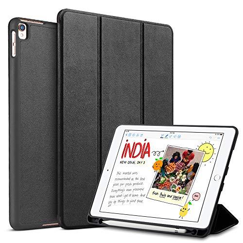 tisuges Schutzhülle für iPad Pro 26,7cm mit Bleistift Halter, Ultra slimtrifold Ständer & Auto Sleep/Wake Smart Shell zurück Schutzhülle schwarz -