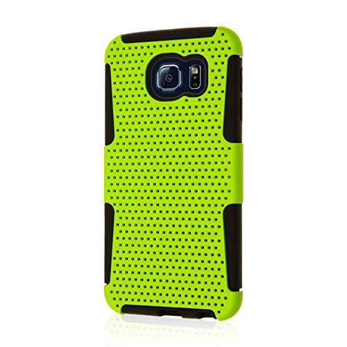 Samsung Galaxy S6Fall, Mpero Fusion M Dual Schichten Silikon Polycarbonat weichen rutschfeste strukturierten Mesh Case für Galaxy S6[perfekt Fit & präzise Port Aussparungen], neon green Neon Green Fusion