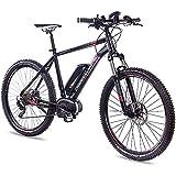 CHRISSON 27,5 E-Bike E-Mounter 2.0 10S DEORE 640 Bosch PLINE Powerpack400 schwarz matt 48 cm