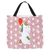 Mr. & Mrs. Panda Strandtasche, XXL, Shopper Einhorn Luftballon - Farbe Glitzer Rosa