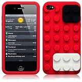 OBiDi - 3D Brique Coque en Silicone / Housse pour Apple iPhone 4S / Apple iPhone 4 -...